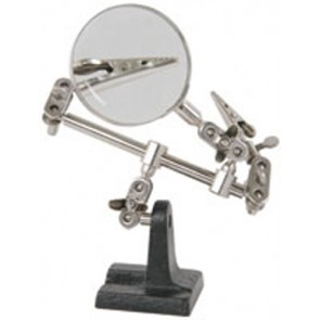 HELPING HANDS WITH GLASS MAGNIFIER
