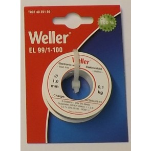 WELLER SOLDER EL 99/1 1mm 100gms
